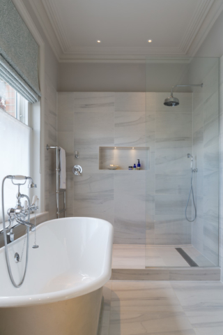 Bathroom, shower and niche lights