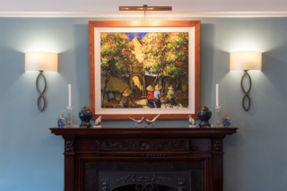 Drawing room, picture and wall lights