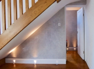 Staircase and floor recessed uplights