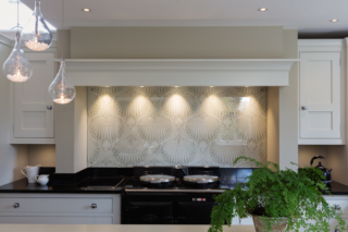 Kitchen, LED task and decorative glass pendants