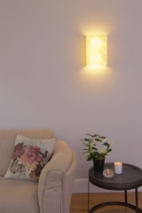 Living room, decorative wall lights